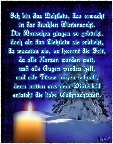 1.Advent Gedicht Kurz